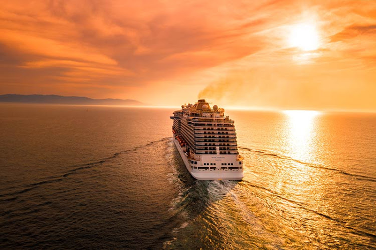 Royal Princess sails into the sunset. Keep these tips in mind when planning your cruise.