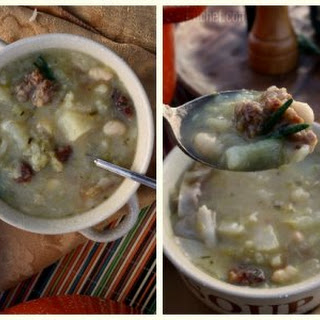 Cabbage & White Bean Soup w/ Italian Sausage