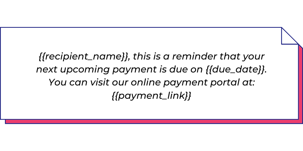Use this payment WhatsApp template for billing reminders.