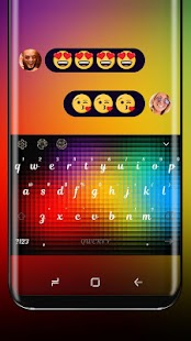 Neon Rainbow Color Keyboard Colorful Light - náhled
