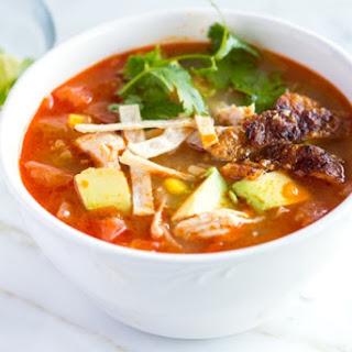 Easy, Homemade Chicken Tortilla Soup.