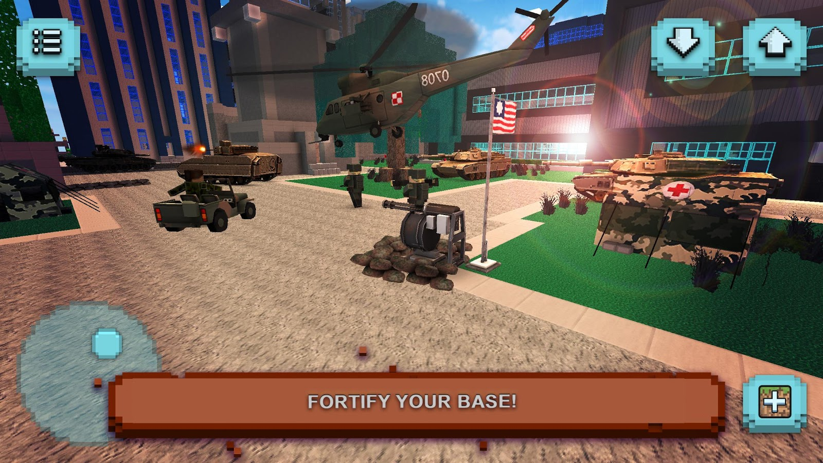 Gunship craft crafting helicopter flying games for Crafting and building app store