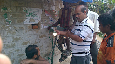 Photo: Dr D.P Kar how pedaling is converted to electricity