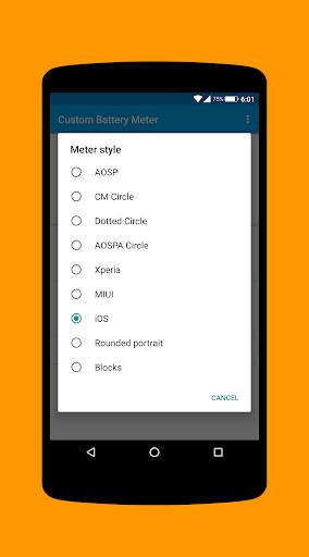 [XPOSED] Custom Battery Meter  screenshots 4