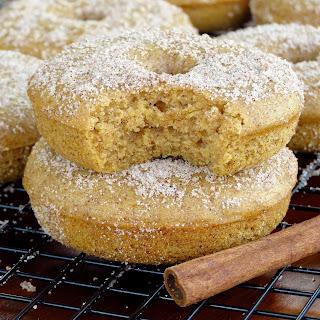 Pumpkin Spice Cinnamon Sugar Donuts.