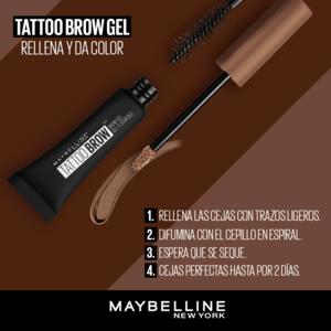 Gel Tatto Maybelline para Cejas Medium Brown x1und