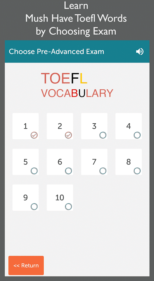 toefl vocabulary 400words flashcard Flashcard machine - create,  toefl vocabulary (519 words) description preparation for the toefl test (english language learners) total cards 519.