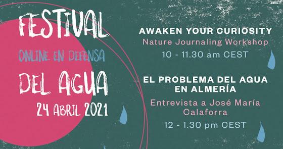 """Sorbas celebrará un festival online """"en defensa del agua"""" este 24 de abril"""