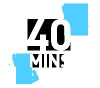 40 mins logo