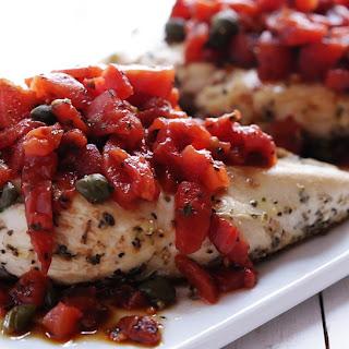 Tuscan Chicken with Mediterranean Salsa