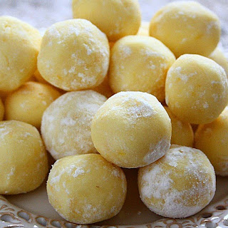 White Chocolate Lemon Truffles.