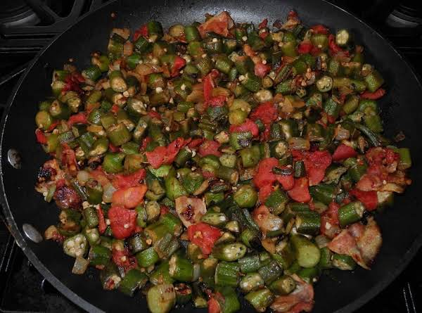 Saute'd Okra And Tomatoes.