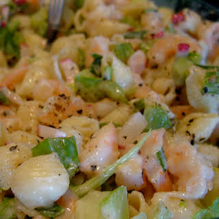 Caribbean Pasta and Seafood Salad.