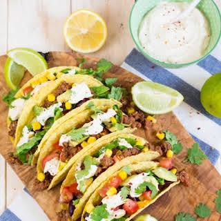 Vegan Tacos with Lentil Walnut Meat.