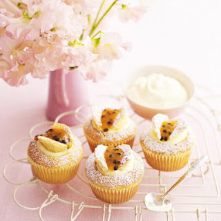 Orange and Passion Fruit Butterfly Cupcakes.