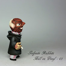 Photo: Hell on Vinyl 01. Part of a multi-piece private commission. Muttpop Gobi.
