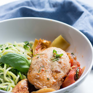 Easy Mediterranean Chicken with Tomatoes & Artichokes