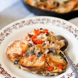 Ratatouille Breakfast Skillet Strata.