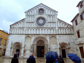 Photo: The Cathedral of St. Anastasia is the largest cathedral in the coastal region of Croatia.  It was re-built in the 13th century.