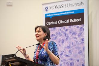 Photo: Professor Flavia Cicuttini, SPHPM, giving a research overview.