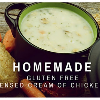 Homemade Gluten Free Condensed Cream of Chicken Soup.