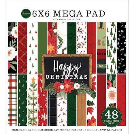 Carta Bella Double-Sided Mega Paper Pad 6X6 - Happy Christmas