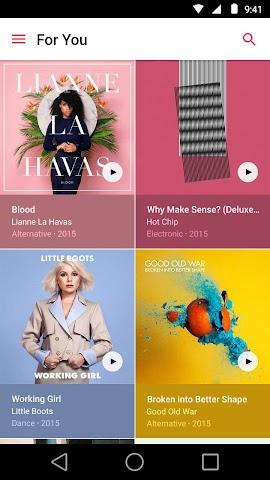 android Apple Music Screenshot 0