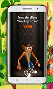 Bandicoot Crash Surfer Fox on the Crossy Road 3D - náhled