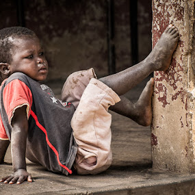 Daydreamer by Joggie van Staden - Babies & Children Children Candids ( child, dreaming, separate, children, people, boy, alone, rural )