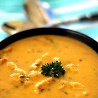Pumpkin and Chicken Soup with Coconut Milk.