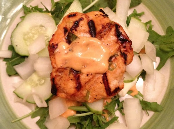 Korean Turkey Burger On Greens Recipe