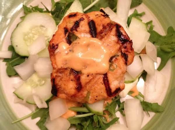 Korean Turkey Burger On Greens Recipe