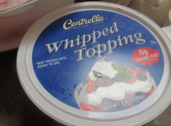 Add tub of whipped topping.