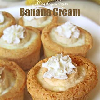 Banana Cream Cookie Cups