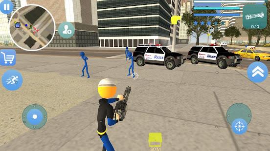 Download Super Stickman Rope Hero Gangstar Crime For PC Windows and Mac apk screenshot 2