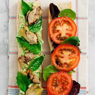 Tomato, Basil & Artichoke Picnic Sandwich