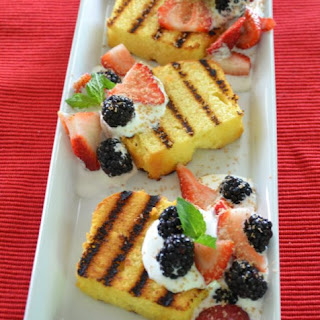 Grilled Pound Cake Slices with Fresh Berries Recipe