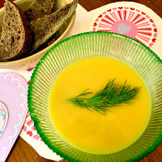 Easy Butternut Squash Soup with Ginger.