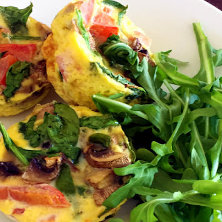 Tomato, Mushroom, and Spinach Egg Muffins.