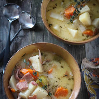 Creamy & Hearty Ham Bone Potato Soup.