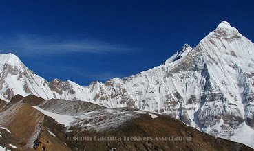 Photo: Famous Logstaff Col and the entire South ridge of Nandadevi East