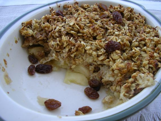 Low-Fat Healthy Apple Crumble Recipe