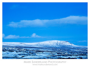 Photo: #MountainMonday  Pen-Y-Ghent, Twilight  Fading twilight creates an eerie blue glow over Pen-Y-Ghent, one of Yorkshire's famous Three Peaks, on a cold February afternoon.  Canon EOS 5D, 70-200mm, ISO 200, 13s at f16