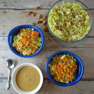 Simple Brussels Sprout Salad + Oil-Free Dressing.