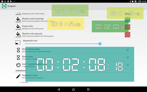 Floating Stopwatch, free multitasking timer 3.2.7 screenshots 14