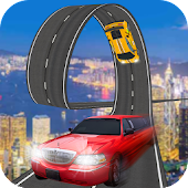 Limousine Car Stunts Racing Track Game
