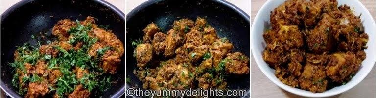 garnish with coriander leaves & serve dahi chicken