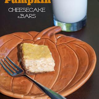 Reduced Fat Pumpkin Cheesecake Bars