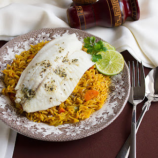 Baked Tilapia with Tomato Rice