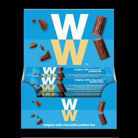 Bar med belgisk mjölkchoklad och hasselnötskräm - 24-pack, 360g